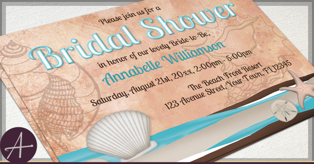 Rustic Bridal Shower Invitations by A
