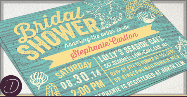 Rustic Bridal Shower Invitations by D