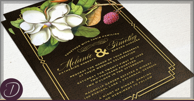 Rustic Magnolia Invitations by D