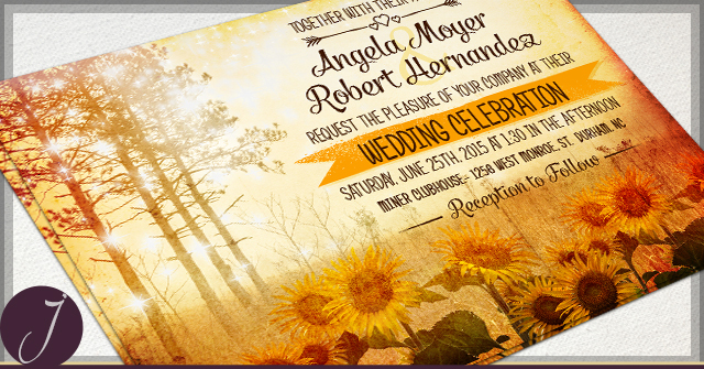 Rustic Autumn Wedding Invitations