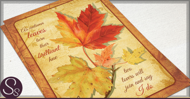 Rustic Autumn Wedding Invitations by SS