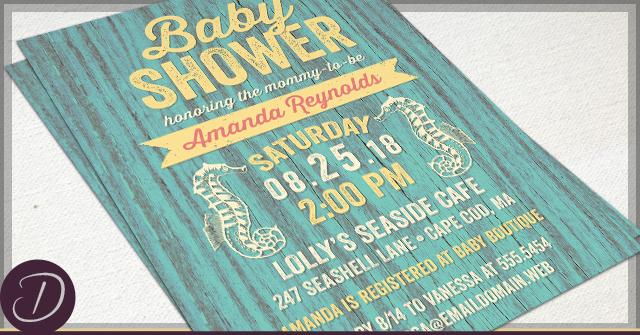 rustic nautical baby shower invitations, Baby shower