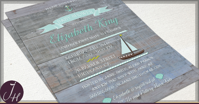 Rustic Baby Shower Invitations by JH