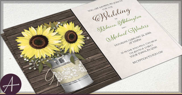 Rustic Tin Can Wedding Invitations by A
