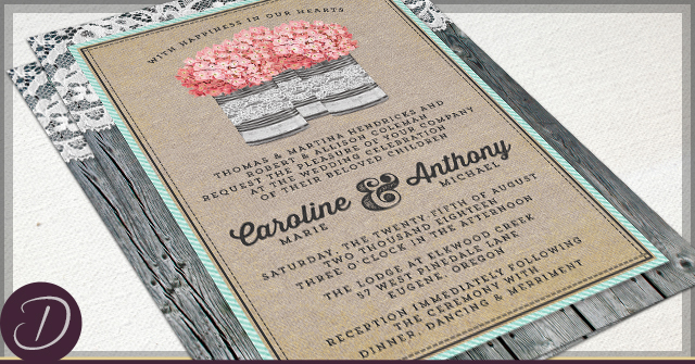 Rustic Tin Can Wedding by D