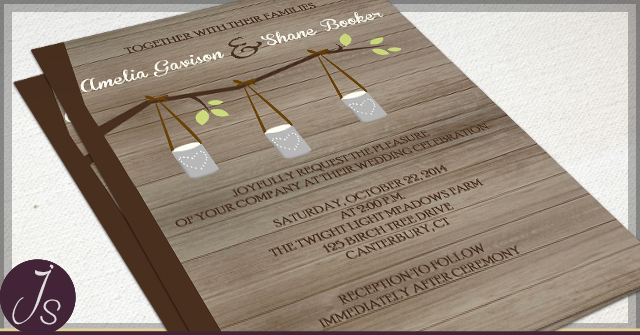 Rustic Tin Can Invitations by JS