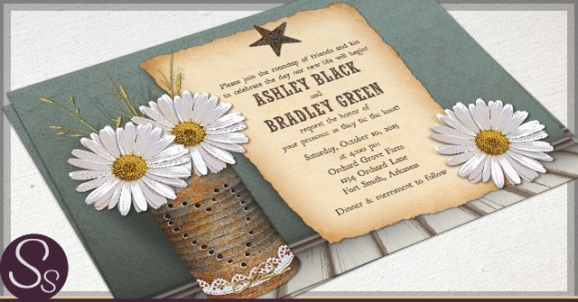 rustic tin can invitations by ss - Daisy Wedding Invitations