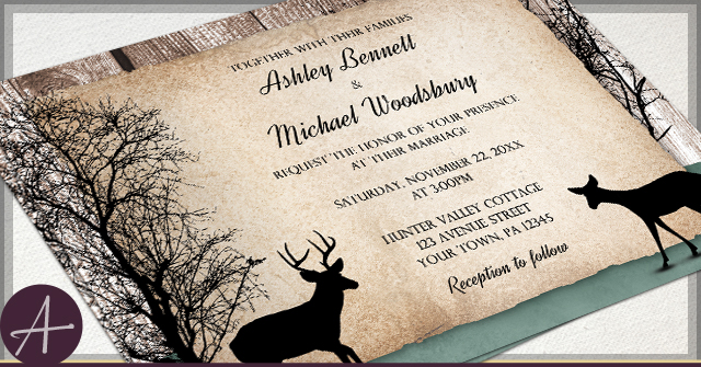 Rustic Deer Invitations by A