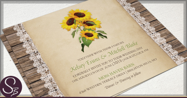 rustic sunflower wedding invitations Archives Rustic Paper – Sunflower Wedding Invite